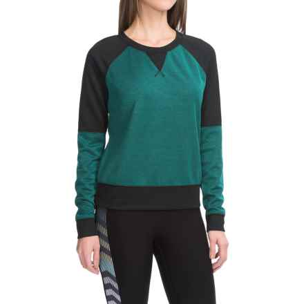 Steve Madden Two-Tone Knit Shirt - Long Sleeve (For Women) in Mooonstone/Black - Closeouts