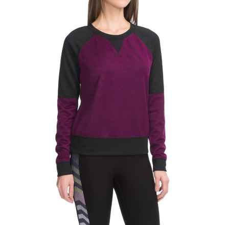 Steve Madden Two-Tone Knit Shirt - Long Sleeve (For Women) in Ripe Fig/Black - Closeouts