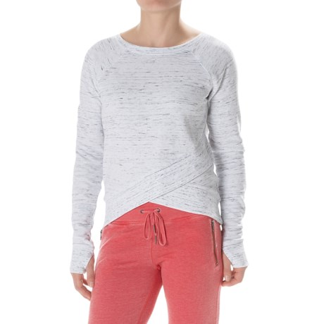 Steve Madden Wrap Bottom Sweatshirt Crew Neck (For Women)