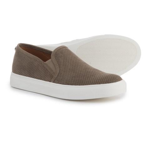 Steve Madden Zarayy-V Perforated Sneakers - Slip-Ons (For Women) in Dark Grey