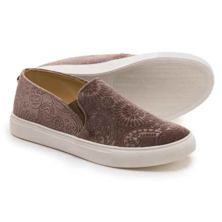 Steve Madden Zarayy-V Perforated Sneakers - Slip-Ons (For Women) in Taupe Velvet - Closeouts