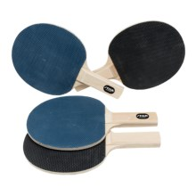 Stiga Rivals Bandit Table Tennis Paddles - Set of 4 in Blue/Black - Closeouts