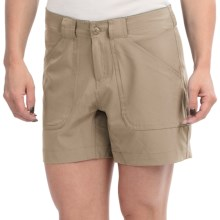 "Stillwater Supply Co. 5.5"" Stretch Shorts (For Women) in Khaki - Closeouts"