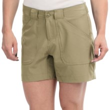 "Stillwater Supply Co. 5.5"" Stretch Shorts (For Women) in Olive - Closeouts"