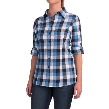 Stillwater Supply Co. Buffalo Plaid Flannel Shirt - Long Sleeve (For Women) in Blue/Grey - Closeouts
