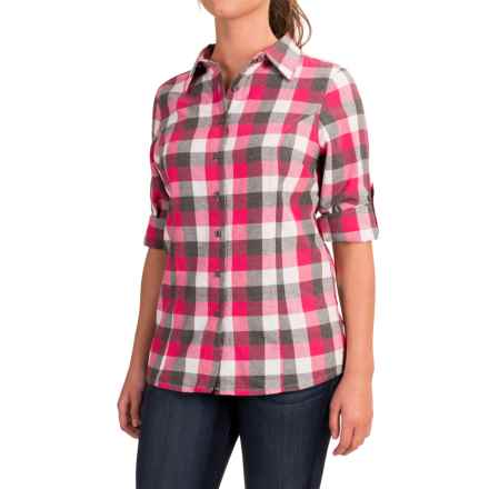 Stillwater Supply Co. Buffalo Plaid Flannel Shirt - Long Sleeve (For Women) in Pink/Grey - Closeouts