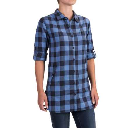 Stillwater Supply Co. Buffalo Plaid Flannel Tunic Shirt - Long Sleeve (For Women) in Blue - Closeouts