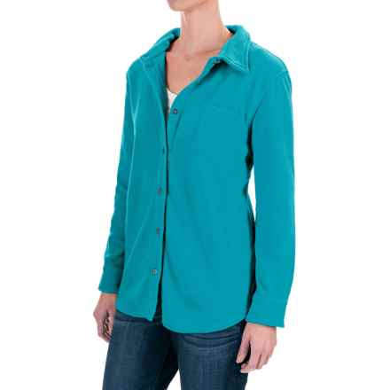 Stillwater Supply Co. CPO Fleece Shirt - Long Sleeve (For Women) in Blue - Closeouts