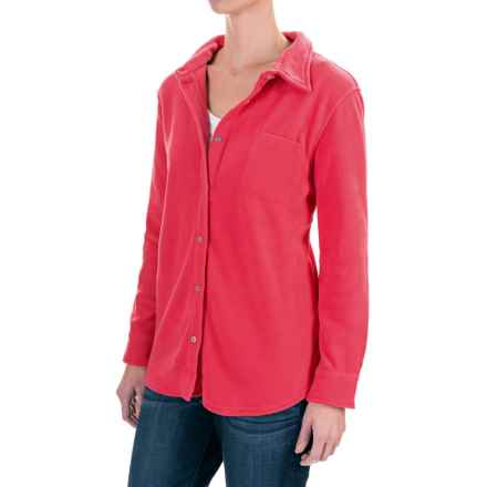 Stillwater Supply Co. CPO Fleece Shirt - Long Sleeve (For Women) in Coral - Closeouts