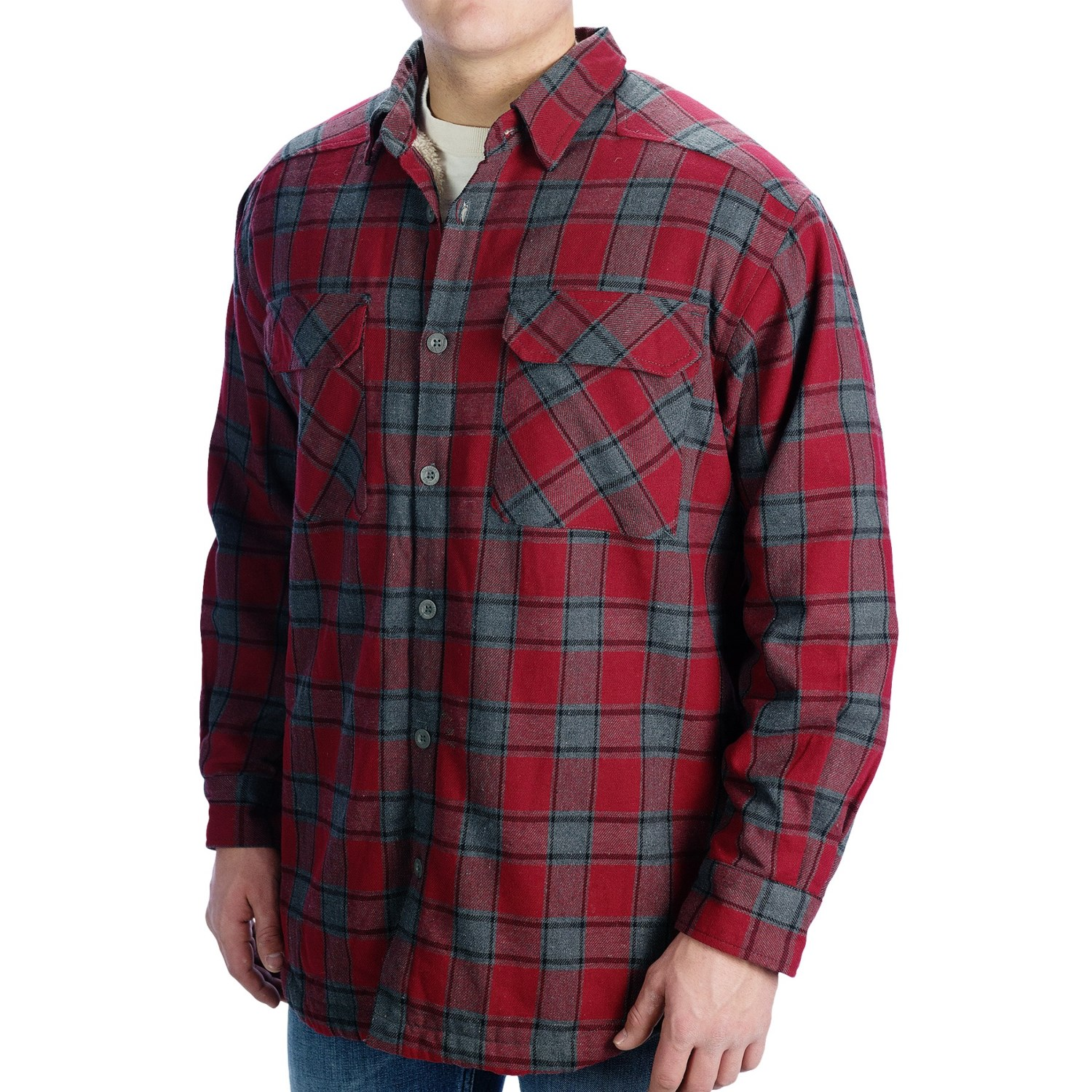 stillwater supply co flannel shirt jacket fleece lined for men save 39. Black Bedroom Furniture Sets. Home Design Ideas