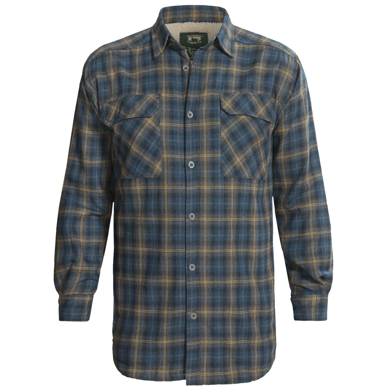 Fleece Lined Flannel Shirt Jacket
