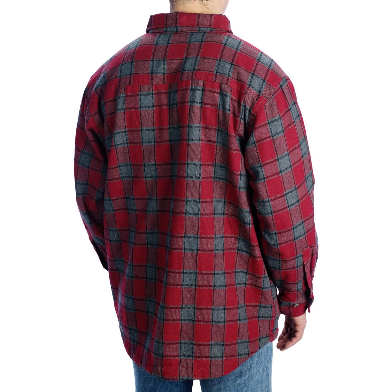 Stillwater supply co flannel shirt jacket for men 8249g for Fleece lined flannel shirt