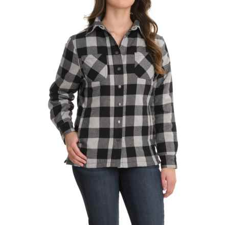 Stillwater Supply Co. Flannel Shirt Jacket - Quilted Lining (For Women) in White - Closeouts