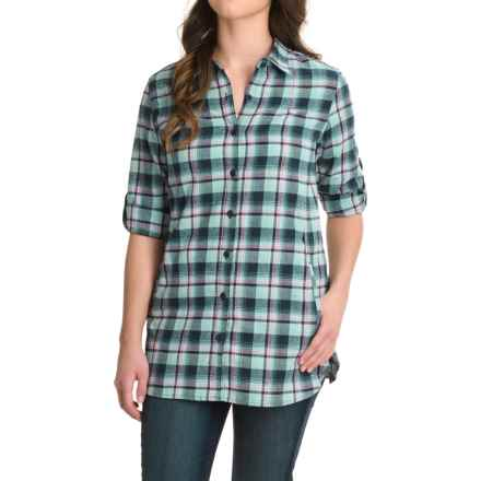 Stillwater Supply Co. Flannel Tunic Shirt - Long Sleeve (For Women) in Blue - Closeouts