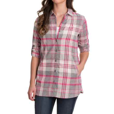 Stillwater Supply Co. Flannel Tunic Shirt - Long Sleeve (For Women) in Gray - Closeouts