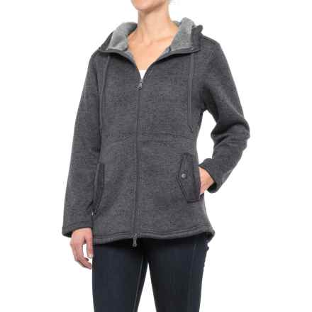 Stillwater Supply Co. Hooded Knit Fleece Sweater - Full Zip (For Women) in Charcoal - Closeouts
