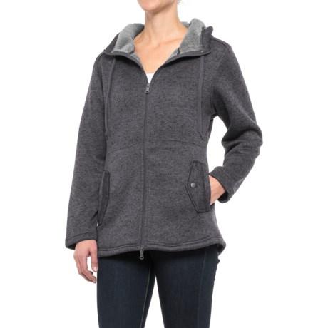 Stillwater Supply Co. Hooded Knit Fleece Sweater - Full Zip (For Women)