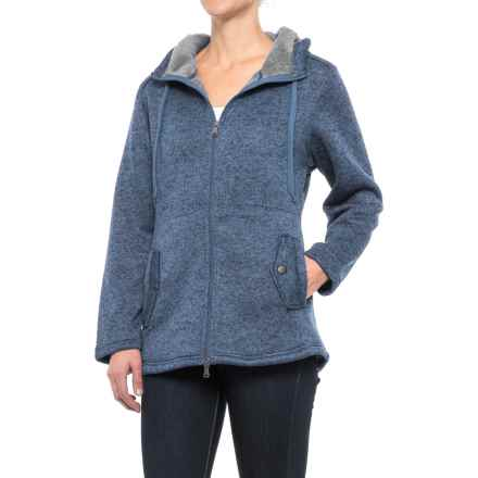 Stillwater Supply Co. Hooded Knit Fleece Sweater - Full Zip (For Women) in Periwinkle - Closeouts