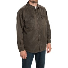 Stillwater Supply Co. Oilskin Shirt Jacket (For Men) in Brown - Closeouts