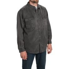 Stillwater Supply Co. Oilskin Shirt Jacket (For Men) in Charcoal - Closeouts