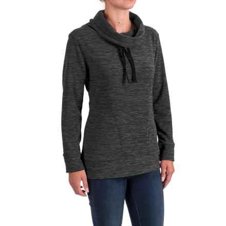 Stillwater Supply Co. Optic Fleece Shirt - Cowl Neck, Long Sleeve  (For Women) in Black - Closeouts