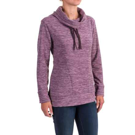 Stillwater Supply Co. Optic Fleece Shirt - Cowl Neck, Long Sleeve  (For Women) in Purple - Closeouts
