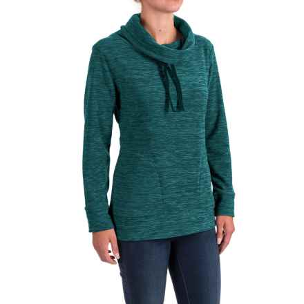 Stillwater Supply Co. Optic Fleece Shirt - Cowl Neck, Long Sleeve  (For Women) in Teal - Closeouts