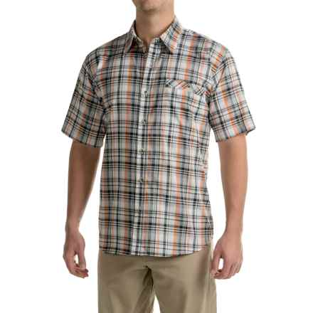 Stillwater Supply Co. Plaid Poplin Shirt - Short Sleeve (For Men) in Black/Orange - Closeouts