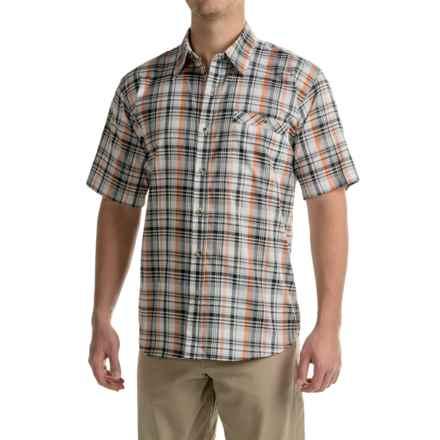 Stillwater Supply Co. Plaid Poplin Shirt - Short Sleeve (For Men) in Black/Orange - Closeouts