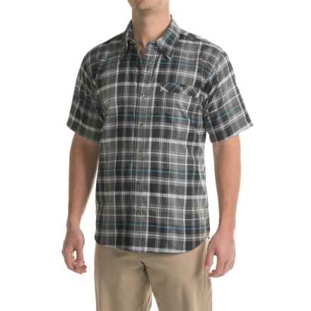 Stillwater Supply Co. Plaid Poplin Shirt - Short Sleeve (For Men) in Charcoal - Closeouts
