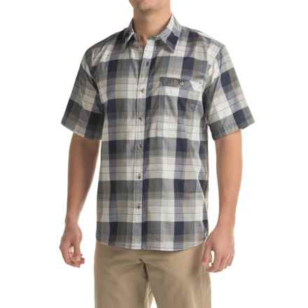 Stillwater Supply Co. Plaid Poplin Shirt - Short Sleeve (For Men) in Navy - Closeouts