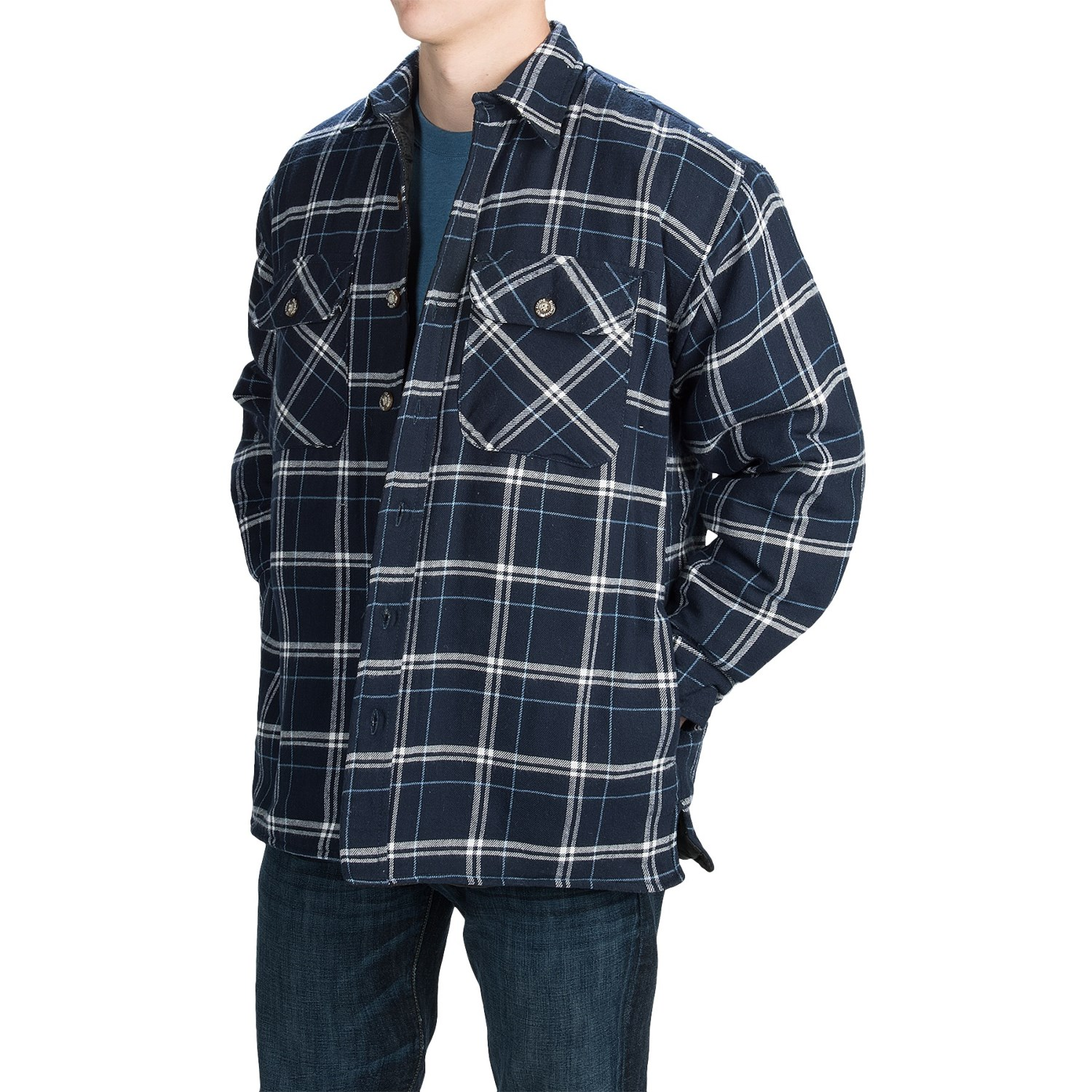 Stillwater supply co plaid shirt jacket for men save 71 for Plaid shirt jacket mens