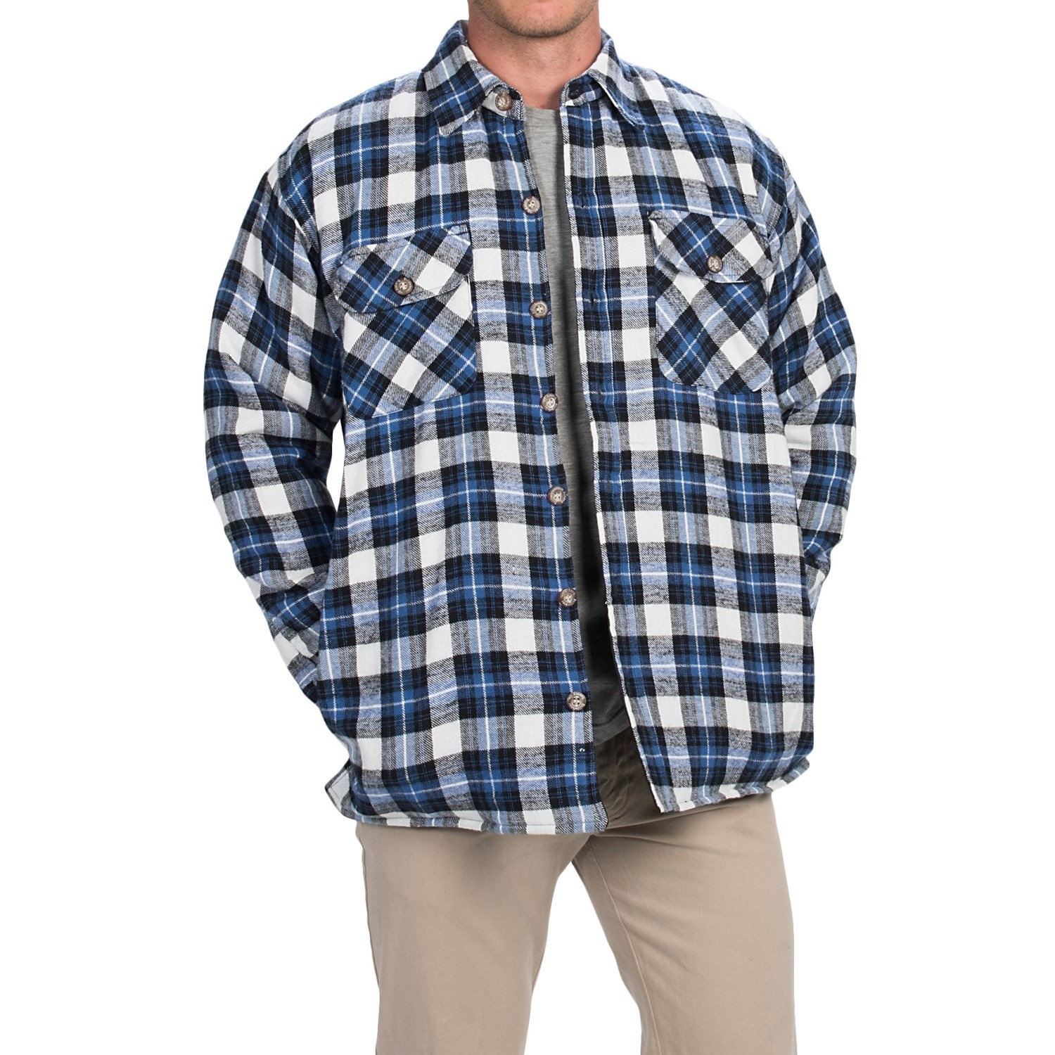 Stillwater supply co plaid shirt jacket for men save 76 for Plaid shirt jacket mens