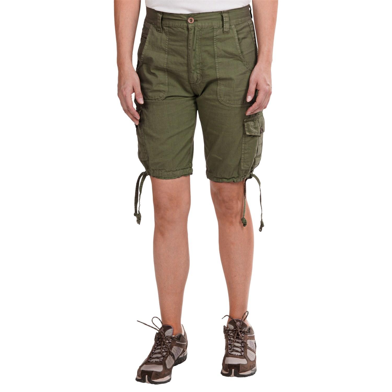 Stillwater supply co poplin cargo shorts for women for Women s fishing shorts