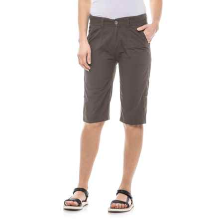 Stillwater Supply Co . Poplin Roll-Up Shorts (For Women) in Gray - Closeouts
