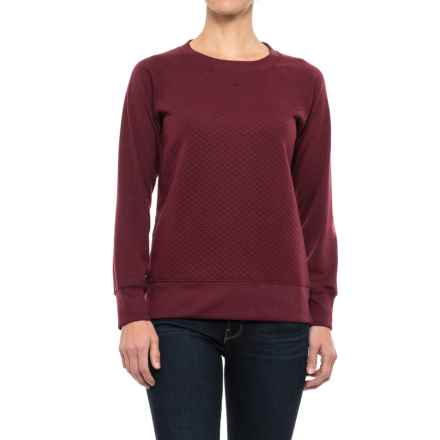Stillwater Supply Co. Quilted Sweatshirt (For Women) in Burgundy - Closeouts