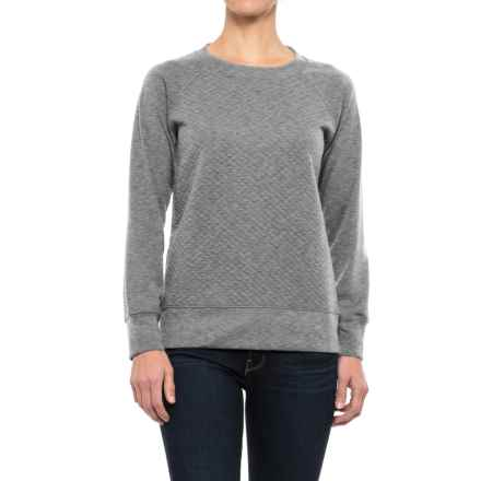 Stillwater Supply Co. Quilted Sweatshirt (For Women) in Heather Gray - Closeouts