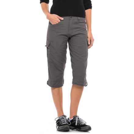 Stillwater Supply Co . Ripstop Capris - UPF 40+ (For Women) in Charcoal - Closeouts