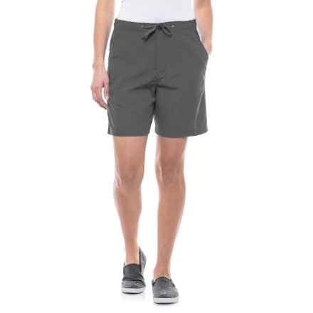 Stillwater Supply Co Sheeting Shorts (For Women) in Charcoal - Closeouts