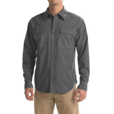 Stillwater Supply Co. Solid Camp Shirt - Long Sleeve (For Men) in Charcoal - Closeouts