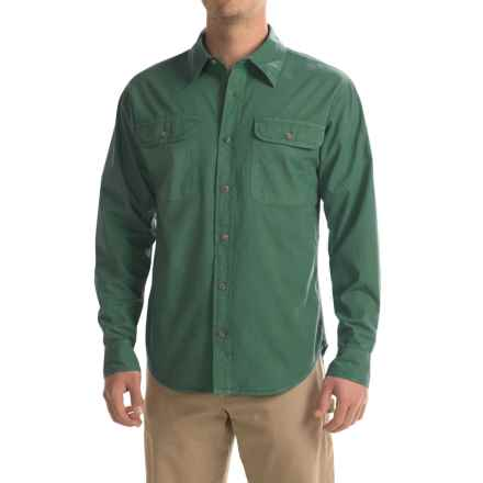 Stillwater Supply Co. Solid Camp Shirt - Long Sleeve (For Men) in Green - Closeouts