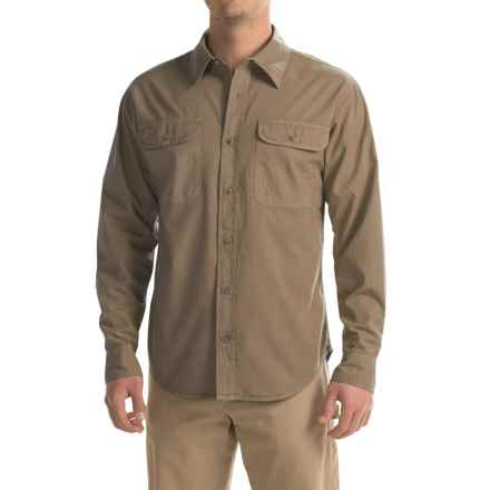 Stillwater Supply Co. Solid Camp Shirt - Long Sleeve (For Men) in Khaki - Closeouts