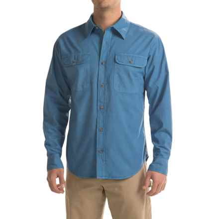 Stillwater Supply Co. Solid Camp Shirt - Long Sleeve (For Men) in Light Blue - Closeouts
