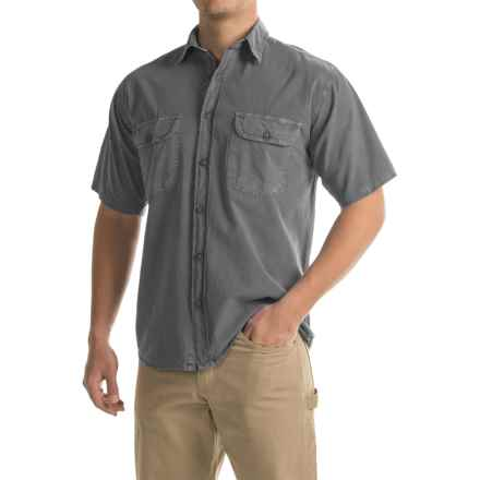 Stillwater Supply Co. Solid Camp Shirt - Short Sleeve (For Men) in Charcoal - Closeouts