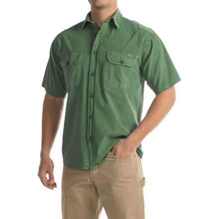 Stillwater Supply Co. Solid Camp Shirt - Short Sleeve (For Men) in Green - Closeouts