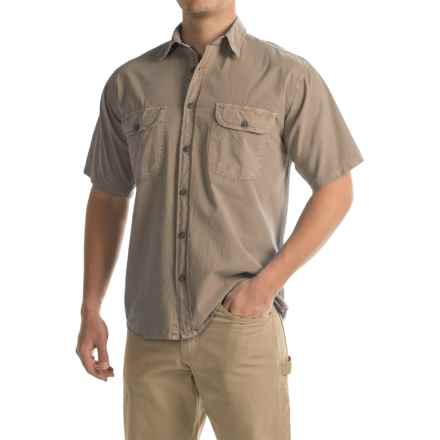 Stillwater Supply Co. Solid Camp Shirt - Short Sleeve (For Men) in Khaki - Closeouts