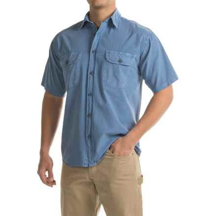 Stillwater Supply Co. Solid Camp Shirt - Short Sleeve (For Men) in Light Blue - Closeouts