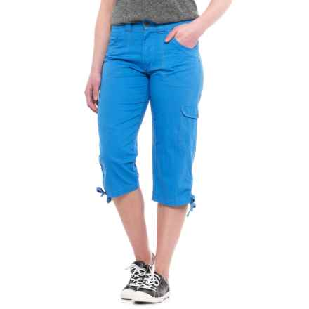 Stillwater Supply Co Tummy Control Dyed Capris (For Women) in Blue - Closeouts