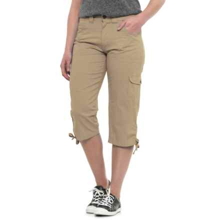 Stillwater Supply Co . Tummy Control Dyed Capris (For Women) in Khaki - Closeouts