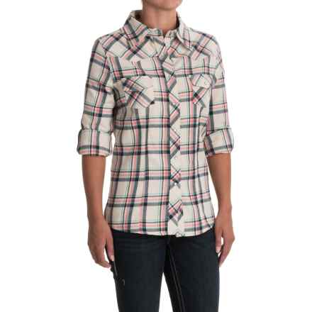 Stillwater Supply Co. Western Shirt - Snap Front, Long Sleeve (For Women) in Offwhite - Closeouts